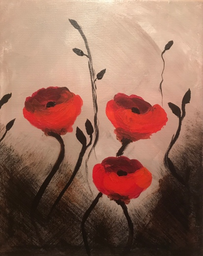 Poppies In No Man's Land, Meg Sorick