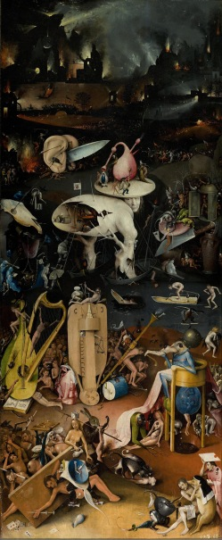 Bosch Garden of Earthly Delights: third panel: Hell