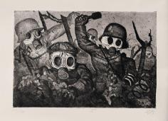 Shock Troops Advance Under Gas, Otto Dix